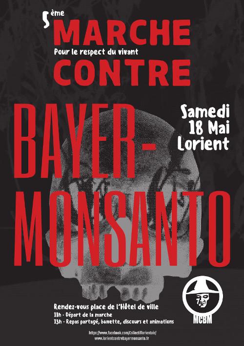 Affiche marche contre Monsanto Lorient 2019